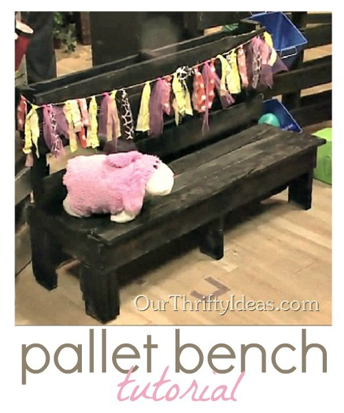 DIY Pallet Bench by Our Thrifty Ideas