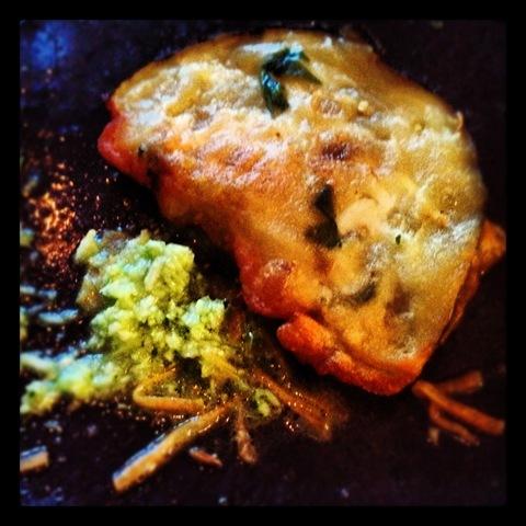 #216 - YummyChooEats supperclub aubergine fritters