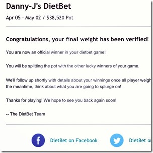 diet bet winner
