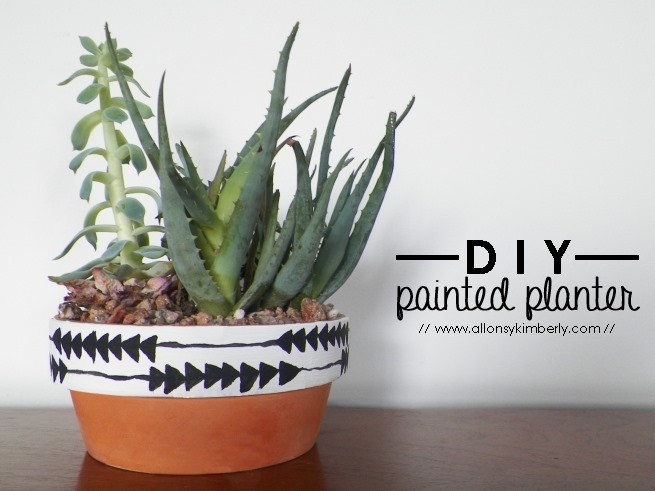 allons-y kimberly: DIY Painted Planter