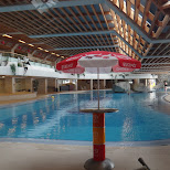 empty pool at the olympia pool in Seefeld, Tirol, Austria