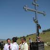 """Саво Штрбац, Предсједник """"Веритаса"""" даје изјаву за медије код спомен крста страдалим српским цивилима од хрватских ракета из војног зракопловства."""