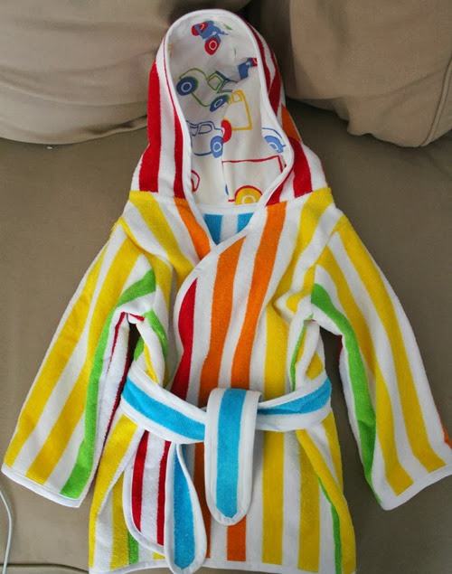 stripe beach robe