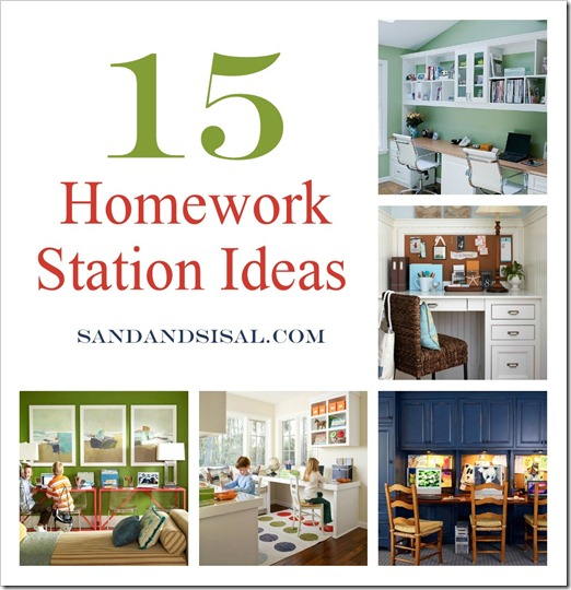 Homework Station Collage 2