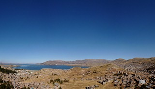 Puno on the shore of Lake Titicaca.
