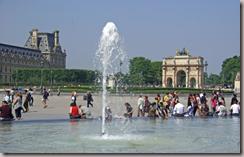L'entre du jardin des Tuileries  l'arc de triomphe du Carrousel