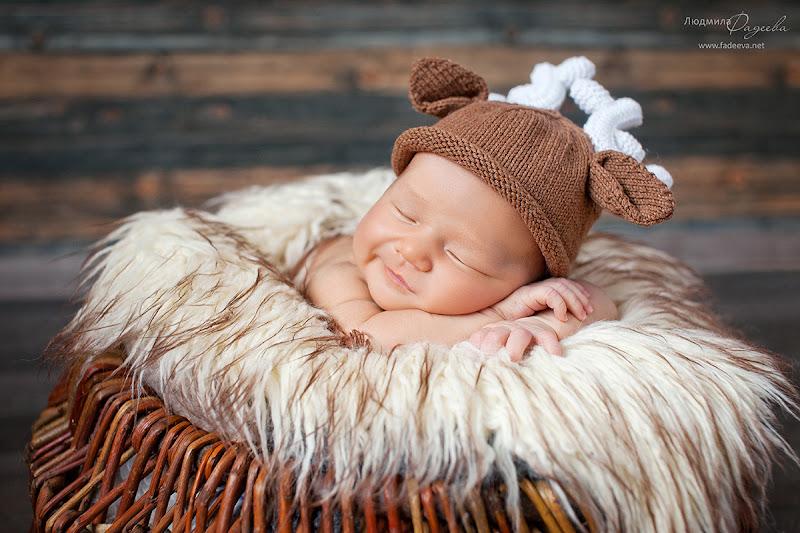 Егор, 10 дней. Фотограф новорожденных Людмила Фадеева