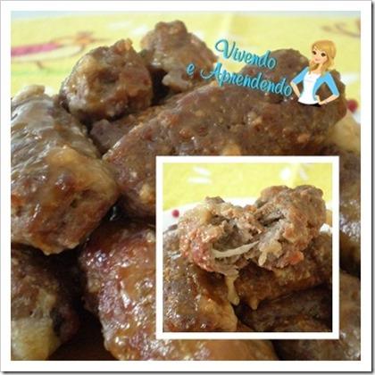 Rolinho de carne moída recheado ao molho madeira e pimenta rosa2
