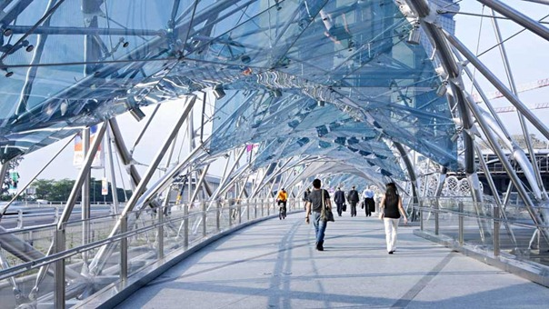 Helix Bridge - por dentro