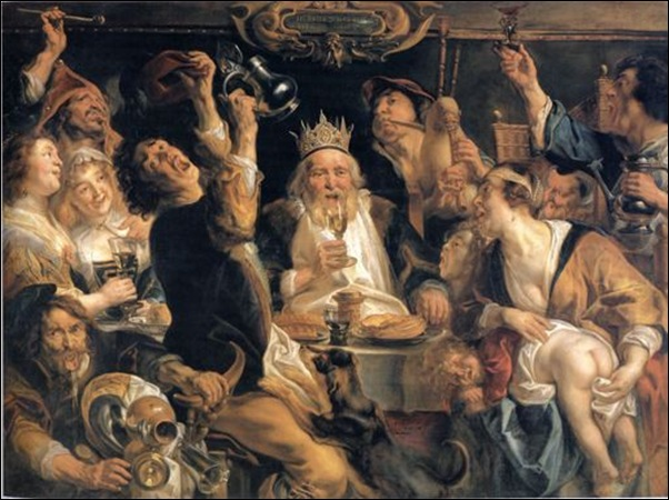 Jordaens, Le roi boit 1640