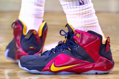 nike lebron 12 pe cavs alternate red 1 01 King James Returns to Cleveland in Two New Nike LeBron 12 PEs