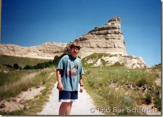 Joe on trail at Scotts Bluff