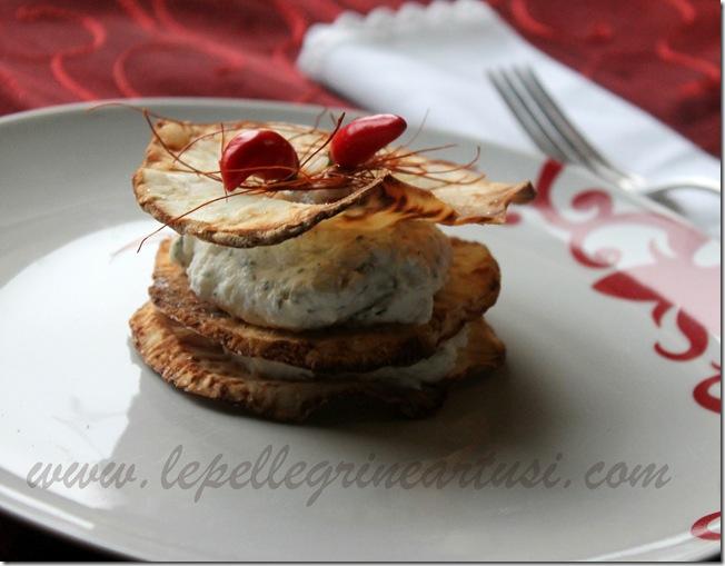Sfoglie di sedano rapa con crema di formaggi 019