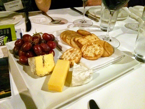 Cheese tray to conclude the meal