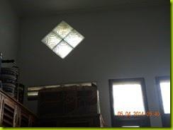 cahaya dari glass block dan ventilasi