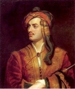 Byron in Albanian dress, painted by Thomas Phillips, 1813