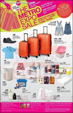 Metro Expo SALE Singapore Jualan Gudang EverydayOnSales Offers Buy Sell Shopping