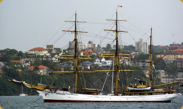 IFR - Tall Ships entering Sydney Harbour - Picton Castle