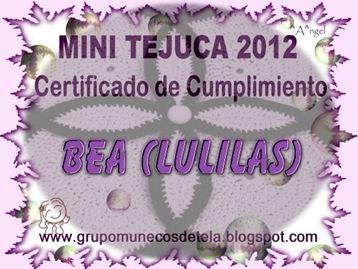 CERTIFICADO MINI TEJUCA 2012-BEA (LULILAS)