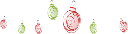 christmas ornaments swirl_red and green MC900439148