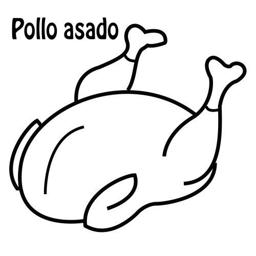 POLLO ASADO DIBUJOS PARA COLOREAR | Dibujos para colorear