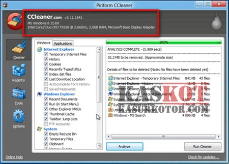 Download CCleaner for Windows 8