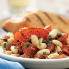 Roasted Tomatoes with Cannellini Beans and Capers