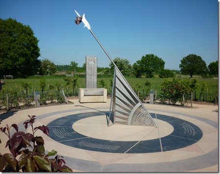 memorial sundial at Bosworth visitor centre