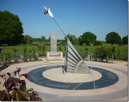 memorial sundial at Bosworth visitor centre