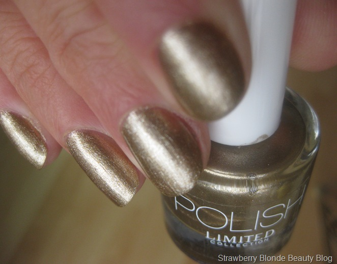 M&S Limited Collection Nail Polish GOLD swatches (2)
