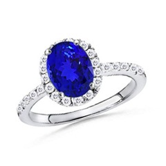The Tanzanite Halo Ring