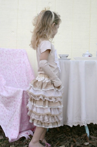 diy lace ruffle skirt