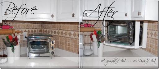 Charming DIY Toaster Oven Shelf