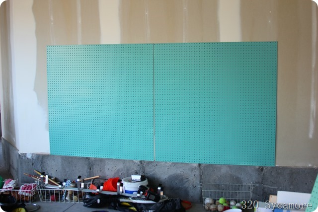pegboard in garage