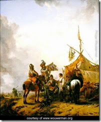 Soldiers-carousing-with-a-serving-woman-outside-a-tent