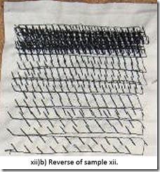Machine stitched tonal sample 12 b