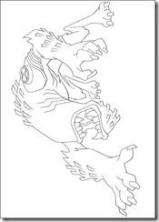 desenho para colorir ben 10 fera besta