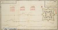 17 September 1740 PLAN en project met de profielen van de Ommer Schans, soo als dezelve weederom opgemaakt en versterkt zoude moeten worden ### Bron: OudOmmen - ontvangen van Streekmuseum Ommen