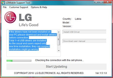 LG Mobile Support Tool Download