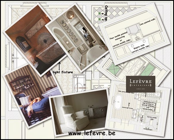 Lefèvre Interiors Bathroom Design neoclassical style