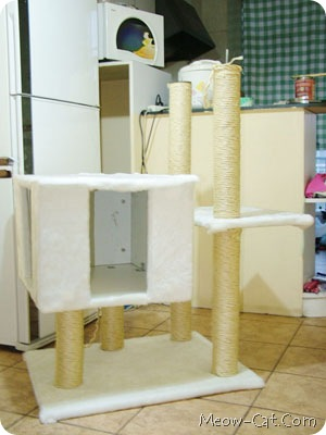 diy simple cat tree 5