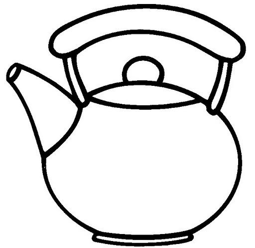 Colorear dibujos de teteras for Utensilios de cocina para pintar
