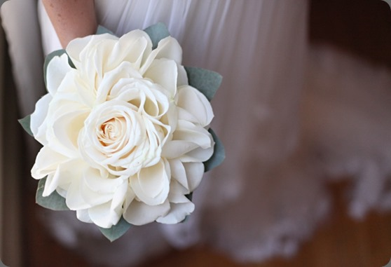 composite White Rosette Bouquet cori cook