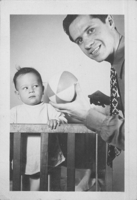 Pat Rocco (left) and his father. Circa 1937