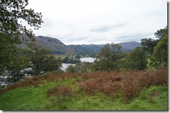Dove Cottage Rydal Water more distant from Coffin Trail