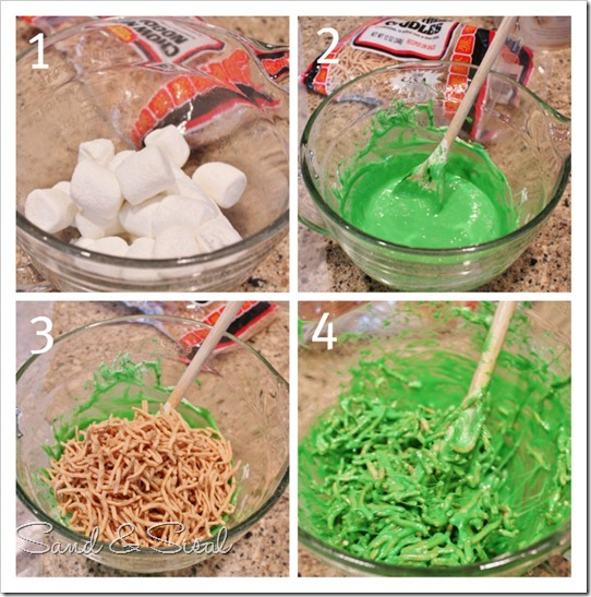 How to make Marshmallow Chirstmas Trees