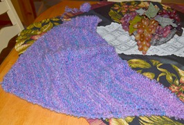 been working on a baby blanket for a new grand niece coming to Mo
