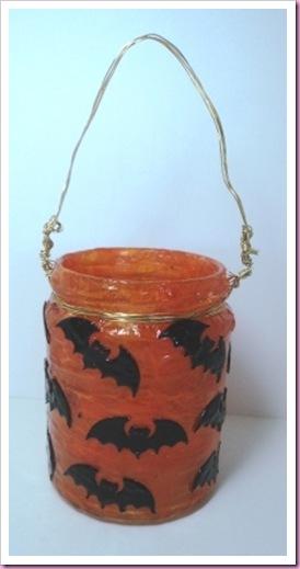Halloween Bats Jar Lantern