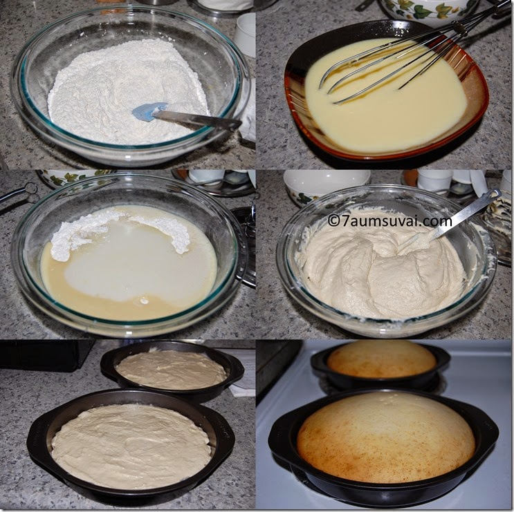 Eggless vanilla cake process