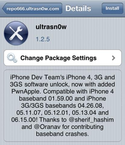 Solusi servis operator hilang selepas Jailbreak iOS 5.0.1